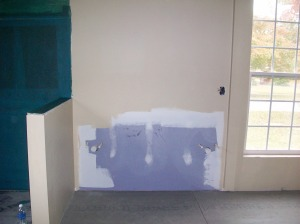 Bathroom walls are painted and we are ready for our tile