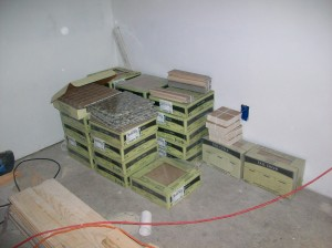 Lots of boxes of tile