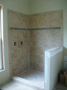 The finished shower stall